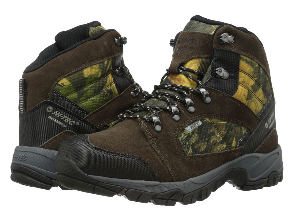 Hi-Tec - Borah Peak I-Shield Waterproof (Dark Chocolate/Camo) Men's Hiking Boots