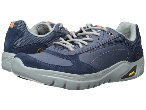 Hi-Tec - V-Lite Walk-Lite Wallen (Navy/Cool Grey/Burnt Orange) Men's Boots