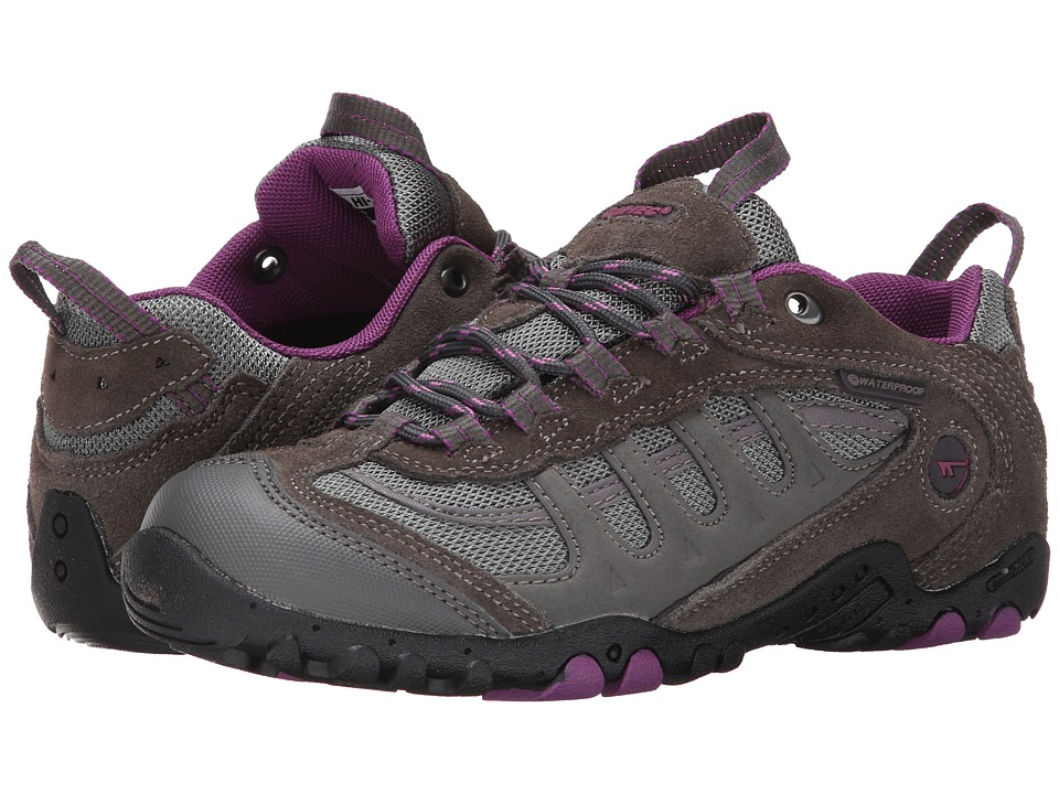Hi-Tec Penrith Low Waterproof (Charcoal/Purple) Women