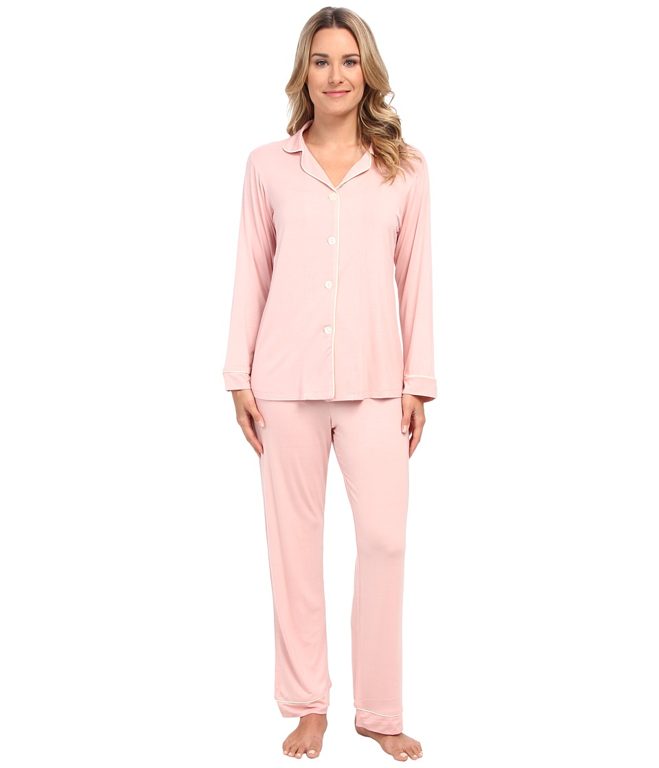 BedHead - Classic Stretch PJ Set Solid (Solid Brulee) Women's Pajama Sets