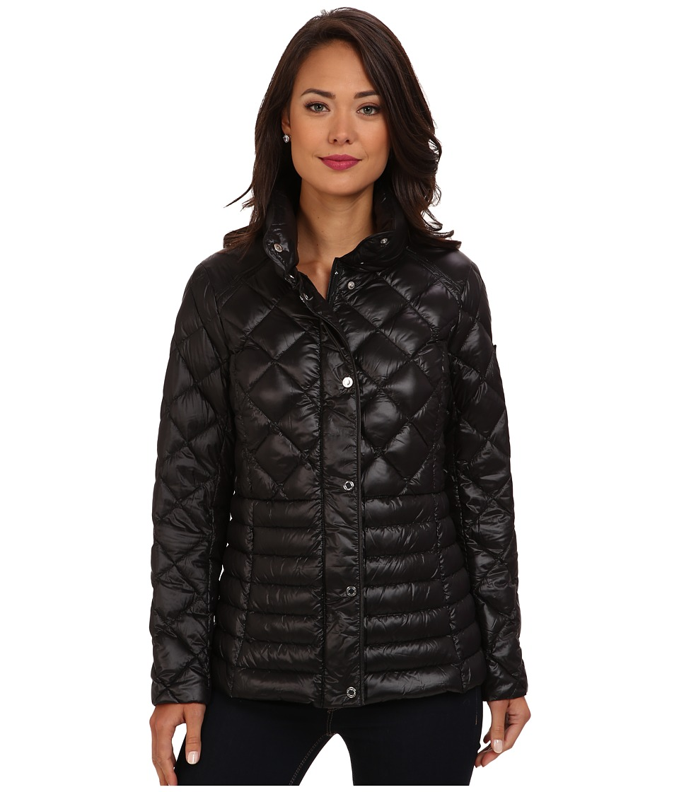 LAUREN by Ralph Lauren - Quilted Packable Down Barn Jacket (Black) Women's Coat