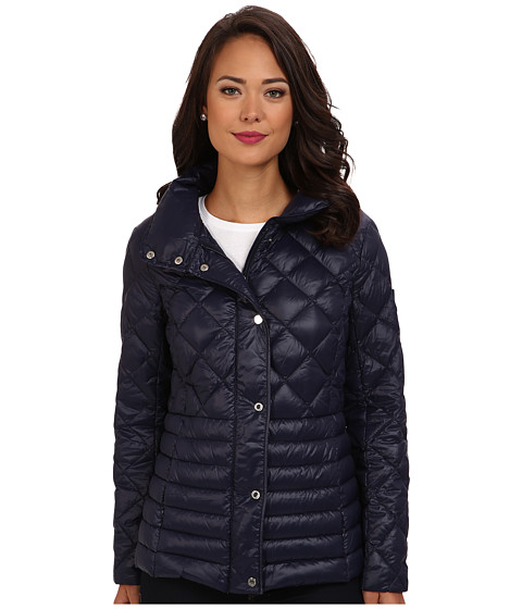 LAUREN by Ralph Lauren - Quilted Packable Down Barn Jacket (Regal Navy) Women's Coat