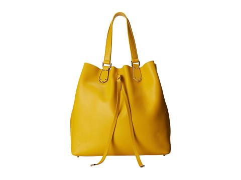 Furla - Plume Large Drawstring North/South (Saffron) Tote Handbags