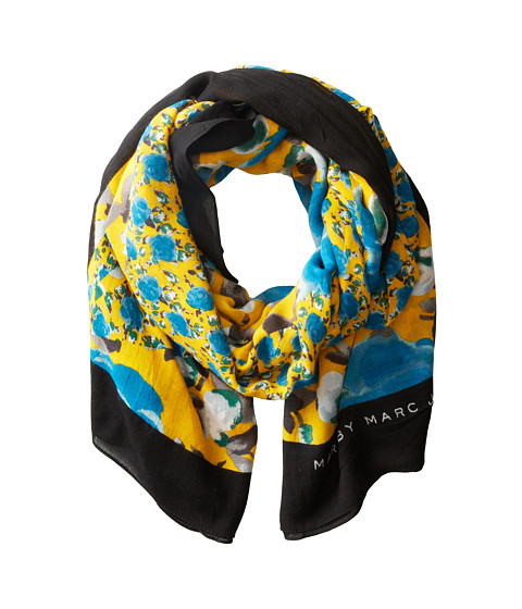 Marc by Marc Jacobs - Spliced Jerrie Rose Scarf (Yellow Jacket Multi) Scarves
