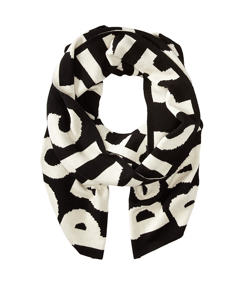 Marc by Marc Jacobs - Don't Panic Scarf (Black Multi) Scarves