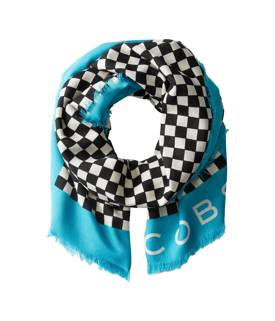 Marc by Marc Jacobs - Cleaver Check Scarf (Deep Sea Turquoise Multi) Scarves