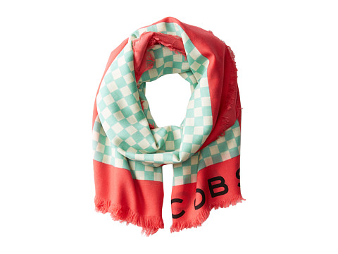 Marc by Marc Jacobs - Cleaver Check Scarf (Bright Pretty Pink Multi) Scarves