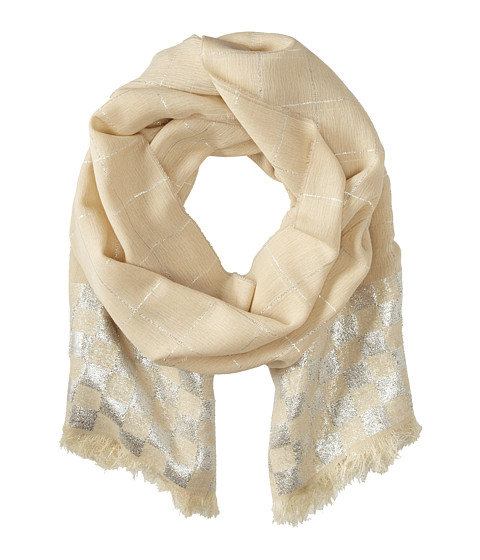 Marc by Marc Jacobs - Shiney Checkerboard Scarf (Parsnip Multi) Scarves
