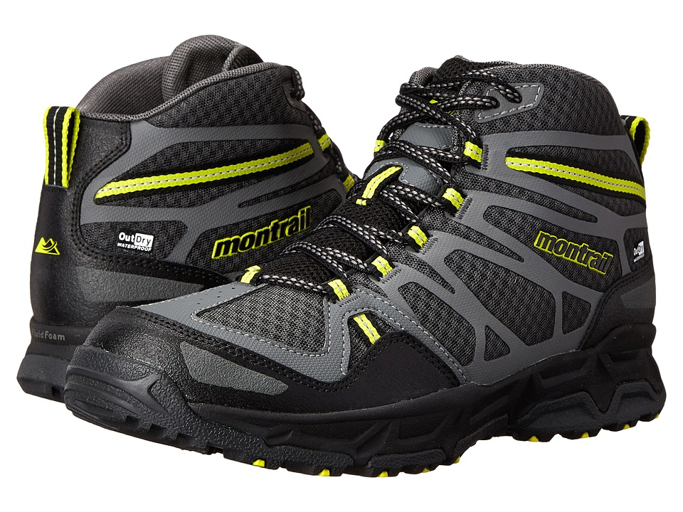 Montrail - Fluid Fusion Mid Outdry (Shark/Chartreuse) Men's Shoes