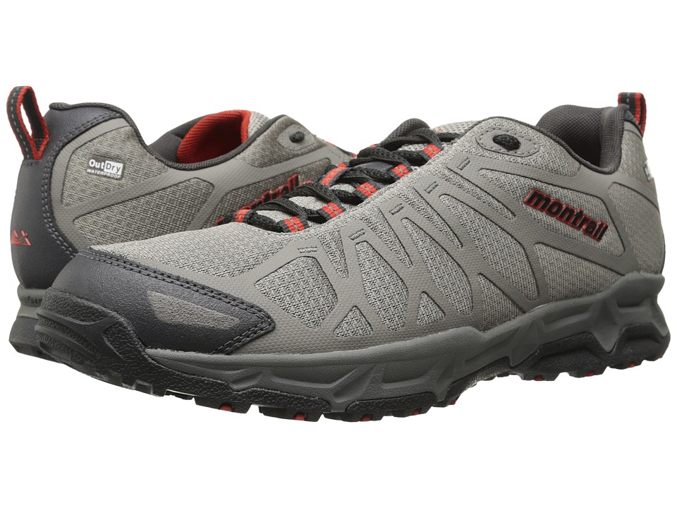 Montrail - Fluid Fusion Outdry (Flint Grey/Sail Red) Men's Shoes