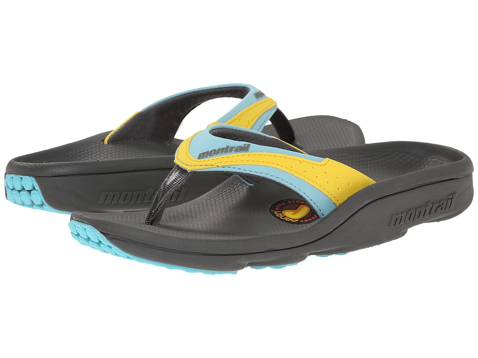 Montrail - Molokini II (Charcoal/Clear Blue) Women's Toe Open Shoes