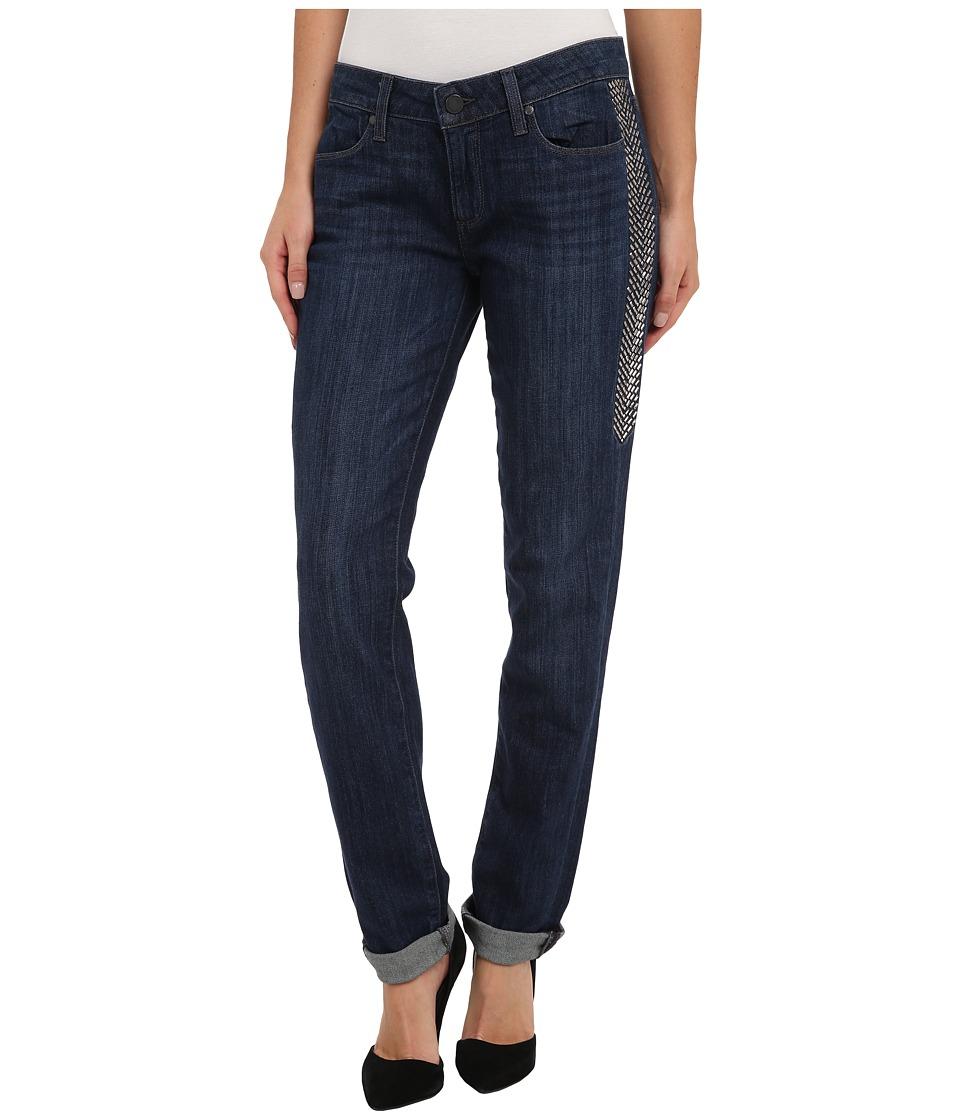 Paige - Pieced Jimmy Jimmy Skinny Dart in Lange Dart Embellished (Lange Dart Embellished) Women's Jeans