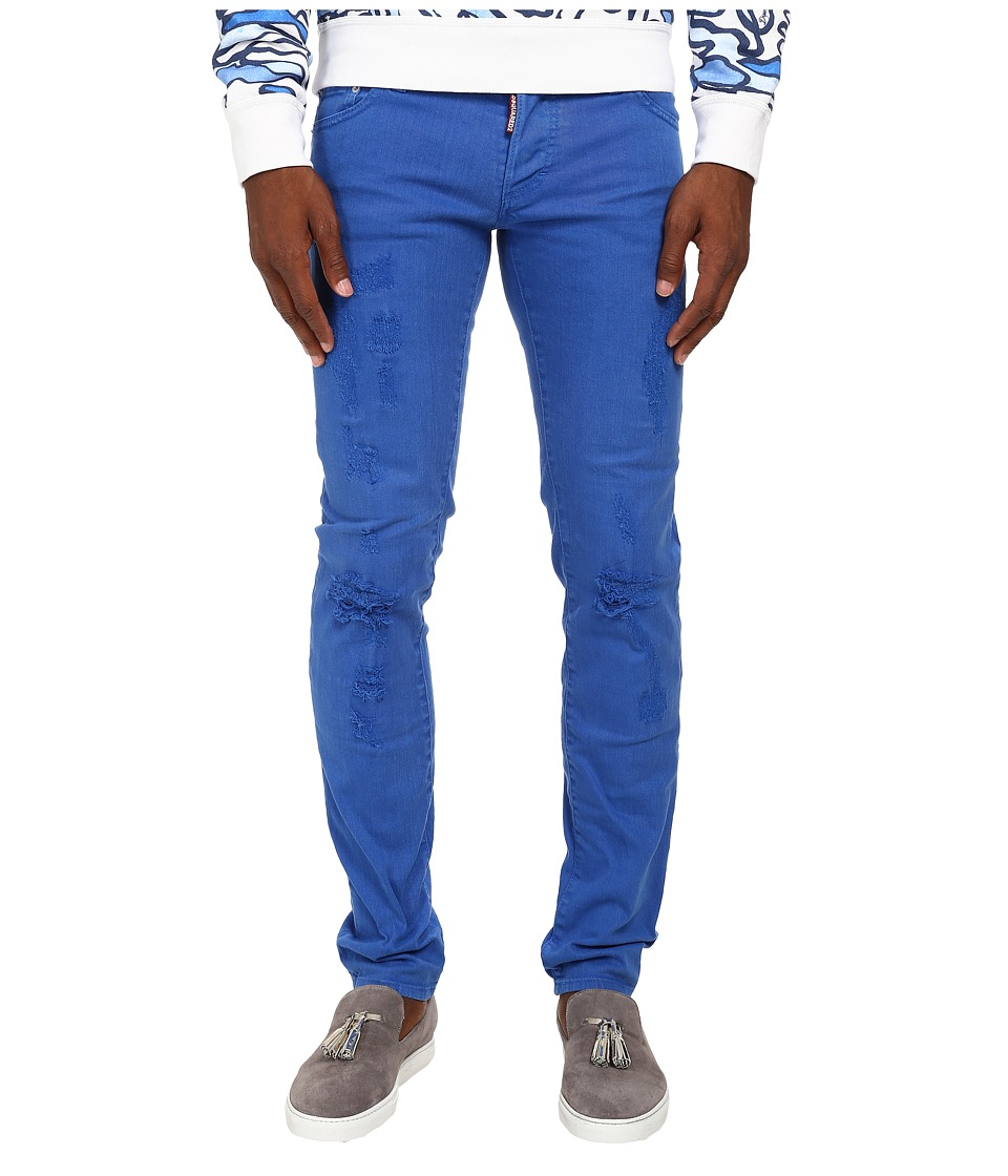 DSQUARED2 - Garment Dyed Slim Jean (Blue) Men's Jeans