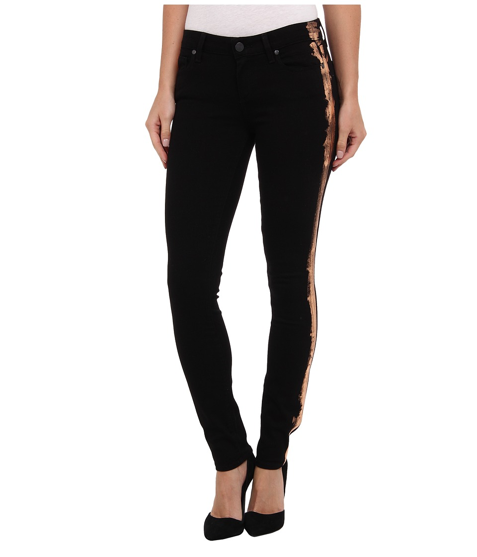 Paige - Verdugo Ultra Skinny in Black/Copper Ray (Black/Copper Ray) Women