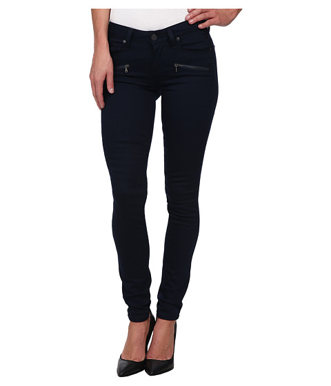 Paige - Indio Zip Ultra Skinny in Midnight Navy/Gunmetal (Midnight Navy/Gunmetal) Women's Jeans