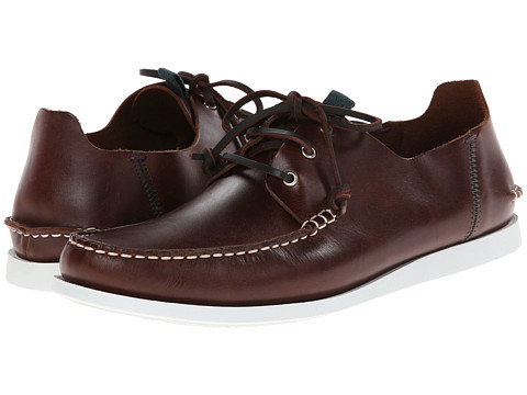 Paul Smith - Jeans Dagama Boat Shoe (Dark Brown) Men's Shoes