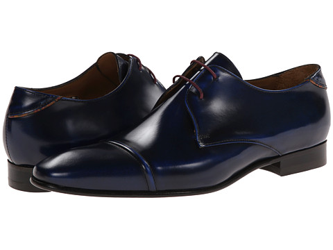 Paul Smith - Robin Cap Toe Oxford (Navy) Men's Lace Up Cap Toe Shoes
