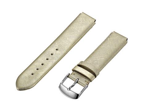 Philip Stein - 18mm Gold Saffiano Strap (Gold) Watches