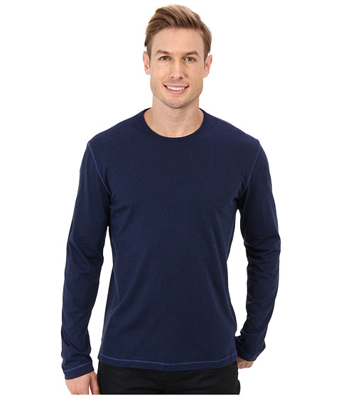 Robert Graham - Riftstone L/S Knit T-Shirt (Dark Navy) Men's Long Sleeve Pullover