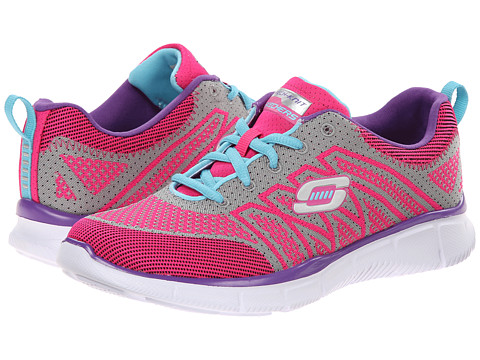 SKECHERS KIDS - Equalizer - Above All 81798L (Little Kid/Big Kid) (Hot Pink/Multi) Girl
