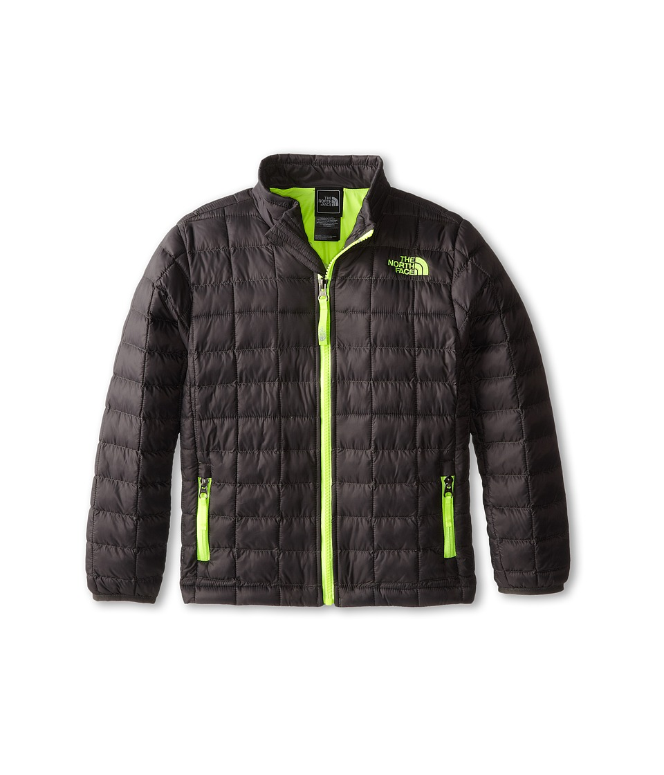 The North Face Kids - Thermoball Full Zip Jacket (Little Kids/Big Kids) (Graphite Grey/Dayglo Yellow) Boy's Coat