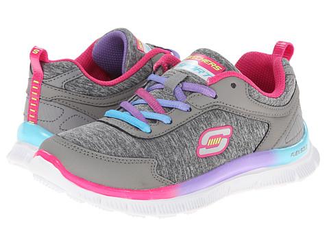 SKECHERS KIDS - Skech Appeal - Flawless Flyer 81885L (Little Kid/Big Kid) (Grey/Multi) Girl's Shoes