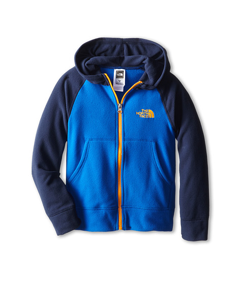 The North Face Kids - Glacier Full Zip Hoodie (Little Kids/Big Kids) (Monster Blue) Boy's Sweatshirt