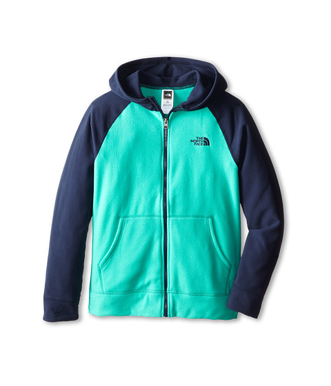 The North Face Kids - Glacier Full Zip Hoodie (Little Kids/Big Kids) (Billiard Green) Boy's Sweatshirt