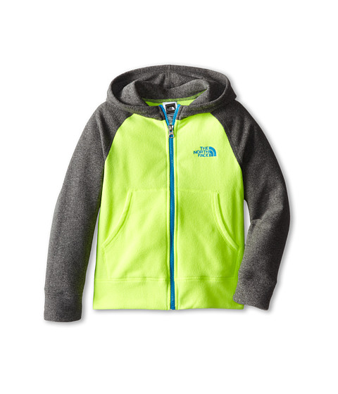 The North Face Kids - Glacier Full Zip Hoodie (Little Kids/Big Kids) (Dayglo Yellow) Boy's Sweatshirt