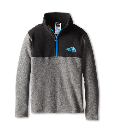 The North Face Kids - Glacier 1/4 Zip (Little Kids/Big Kids) (Zinc Grey Heather) Boy's Long Sleeve Pullover