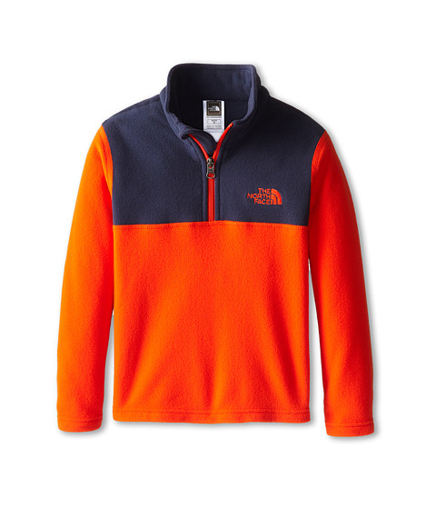 The North Face Kids - Glacier 1/4 Zip (Little Kids/Big Kids) (Acrylic Orange) Boy's Long Sleeve Pullover