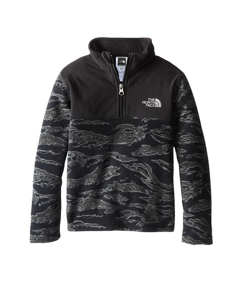 The North Face Kids - Glacier 1/4 Zip (Little Kids/Big Kids) (TNF Black Camo) Boy's Long Sleeve Pullover