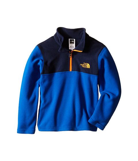 The North Face Kids - Glacier 1/4 Zip (Little Kids/Big Kids) (Monster Blue) Boy's Long Sleeve Pullover