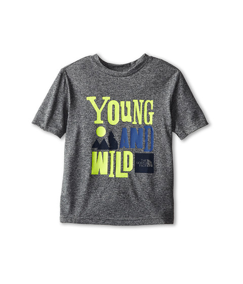 The North Face Kids - Markhor Hike S/S Tee 15 (Little Kid/Big Kid) (Heather Grey 1) Boy