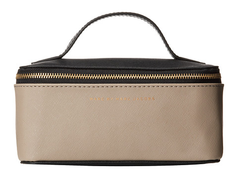 Marc by Marc Jacobs - Sophisticato Color Blocked Cosmetics Small Travel Cosmetic (Black Multi) Cosmetic Case
