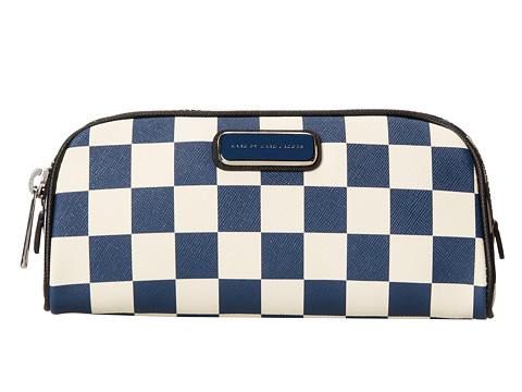 Marc by Marc Jacobs - Sophisticato Checkerboard Cosmetics Lil Bliz (Deep Blue Multi) Cosmetic Case