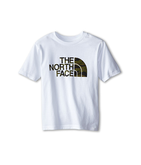 The North Face Kids - S/S Half Dome Tee (Little Kids/Big Kids) (TNF White) Boy's T Shirt