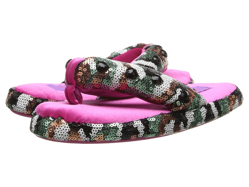 M&F Western - Camo Sequin Flip Flop Slippers (Toddler/Little Kid/Big Kid) (Hot Pink) Women