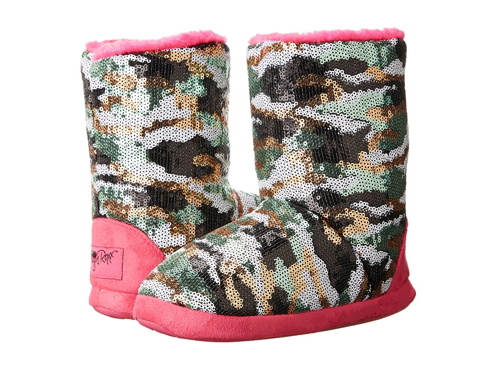 M&F Western - Camo Sequin Bootie Slippers (Toddler/Little Kid/Big Kid) (Hot Pink) Women