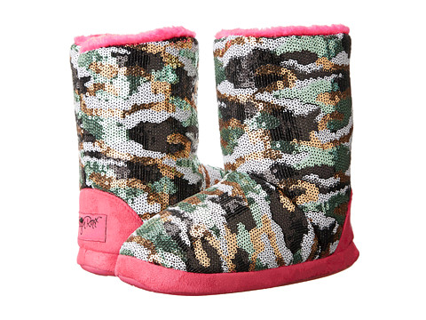 M&F Western - Camo Sequin Bootie Slippers (Toddler/Little Kid/Big Kid) (Hot Pink) Women's Slippers