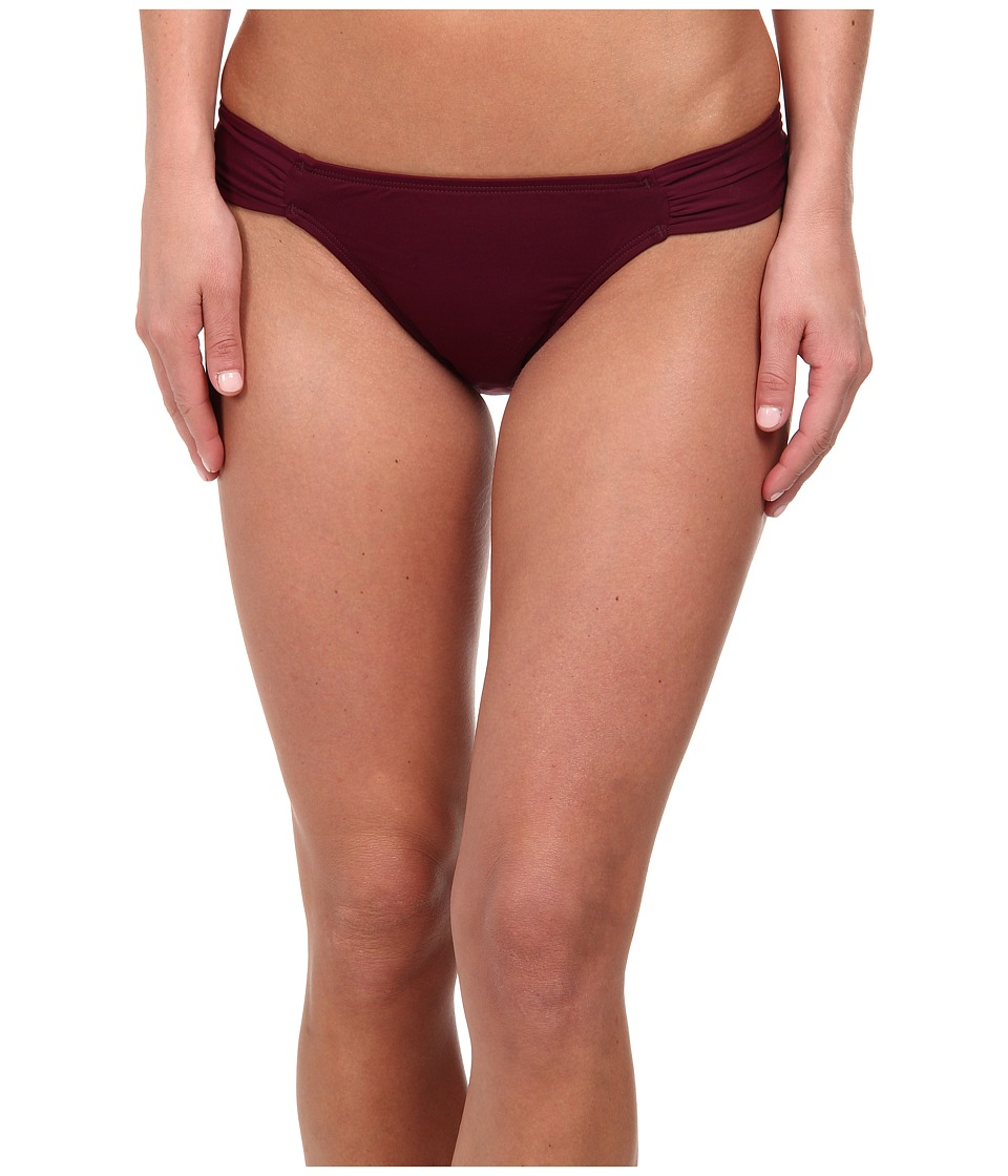 Carve Designs Cardiff Bottom Plum Womens Swimwear