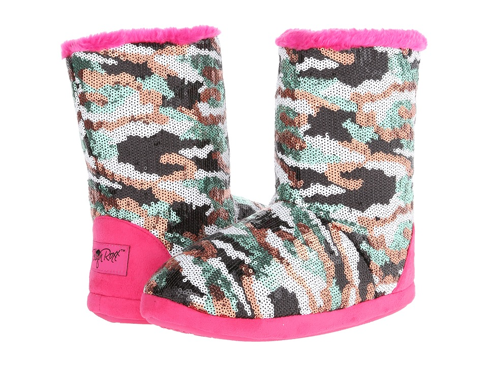 M&F Western - Camo Sequin Bootie Slippers (Hot Pink) Women's Slippers