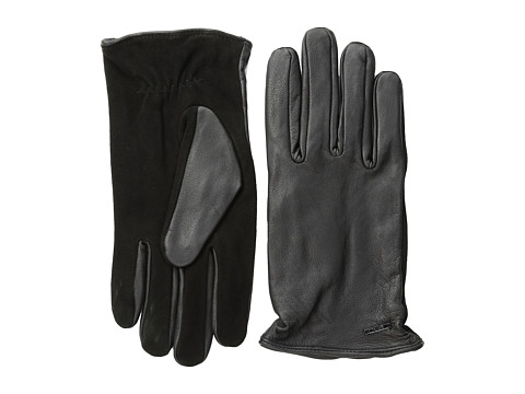 Scotch & Soda - Leather/Suede Gloves (Black) Wool Gloves