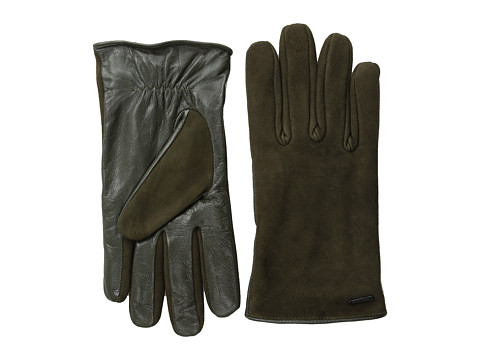 Scotch & Soda - Leather/Suede Gloves (Army Green) Wool Gloves