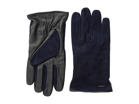 Scotch & Soda - Leather/Suede Gloves (Night) Wool Gloves