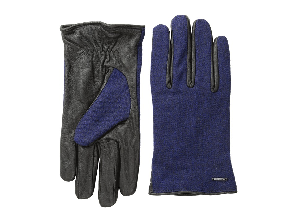 Scotch & Soda - Woolen Leather Gloves (Cobalt Melange) Wool Gloves