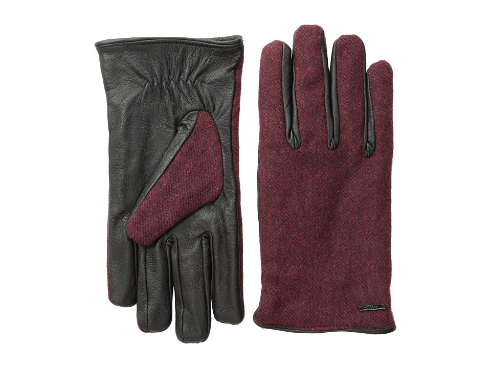 Scotch & Soda - Woolen Leather Gloves (Red Rock Melange) Wool Gloves
