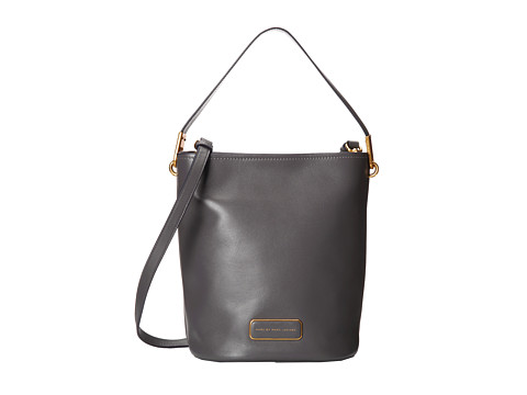 Marc by Marc Jacobs - Ligero Bucket Bag (Gunmetal) Cross Body Handbags
