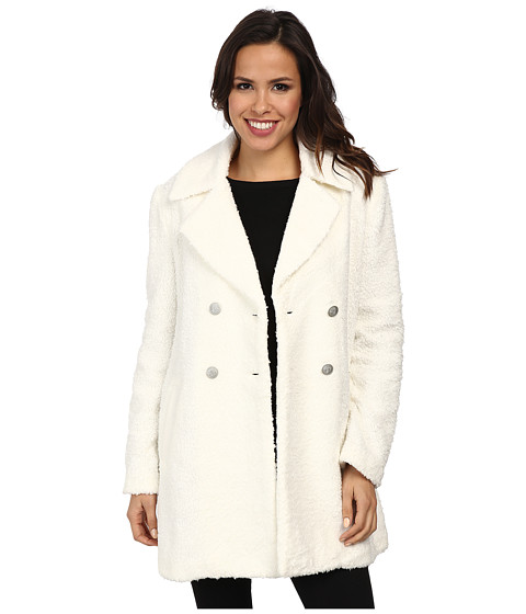 Sanctuary - Poodle Peacoat (Winter White) Women's Coat