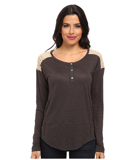 Sanctuary - New Craft Henley (Charcoal) Women